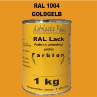 RAL 1004 goldgelb
