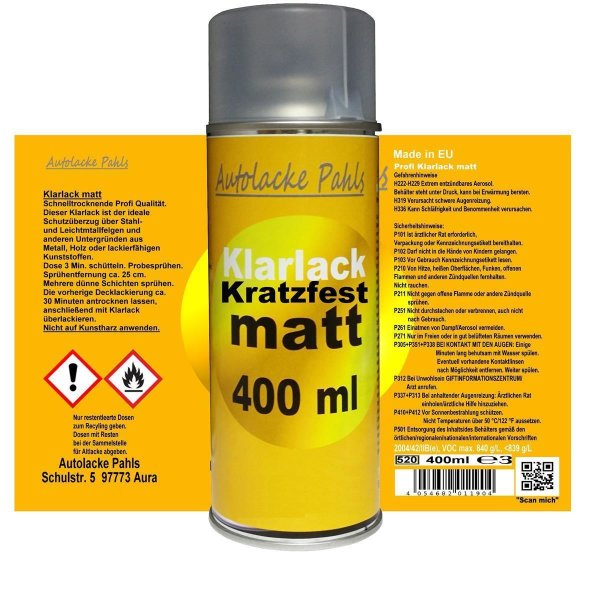 Klarlack Spraydose matt 400 ml