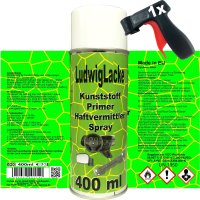 Kunststoffprimer SET 1 x 400 ml Spray plus 1 x Haltegriff